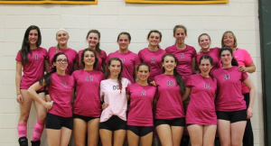 Nipmuc varsity volleyball team- photo taken after the match by Keith Brady