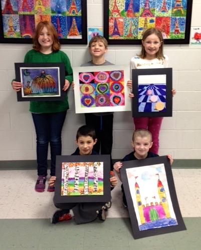 Memorial School Artists Art Educator: Jessica Grady Back row L to R: Anna Foye, Jack Nealley, and Caroline Brigham Front row L to R: Ben Joseph and Sean Bailey