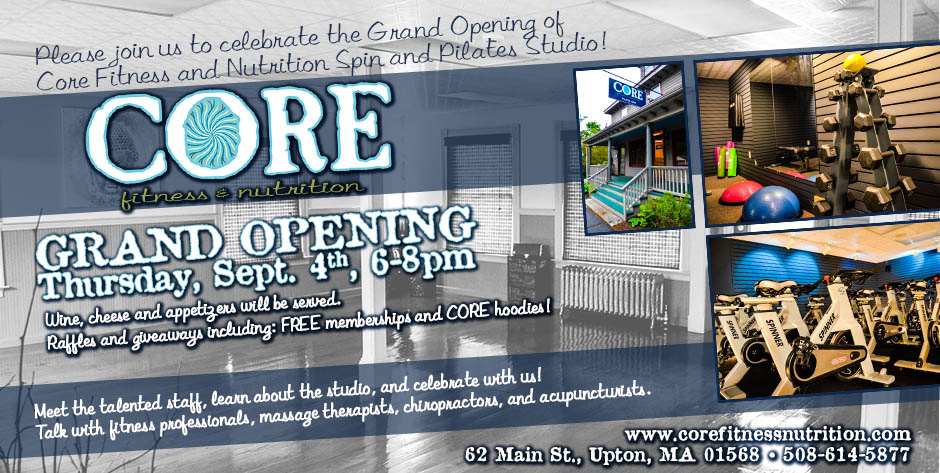 grand opening of core fitness and nutrition pilates and spin studio