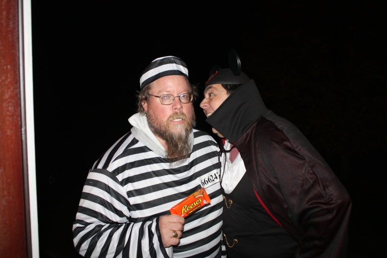 Trick or Treat is fun for adults in Upton too