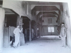 The inside of 149 Main Street when it was used as a stable behind George W. Knowlton's home ~ courtesy of Upton a Pictorial History