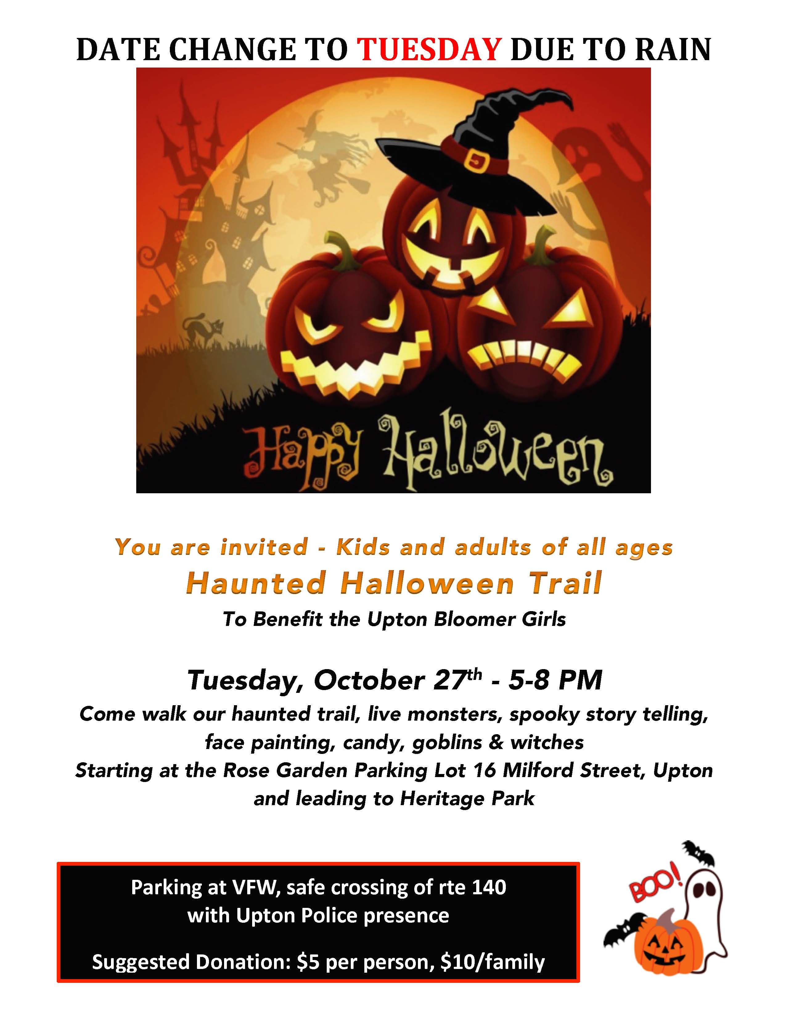 New Date For Upton Haunted Halloween Trail Upton Daily