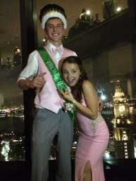 Prom King Kevin Hack with Lea Peterson