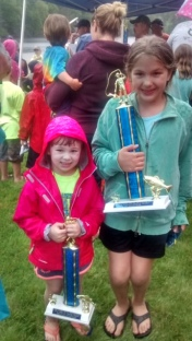 Annabelle Pinto 3rd place calico bass and Julia Ferrandino 1st place bass